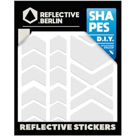 REFLECTIVE BERLIN Shapes Pegatina Reflectora, blanco